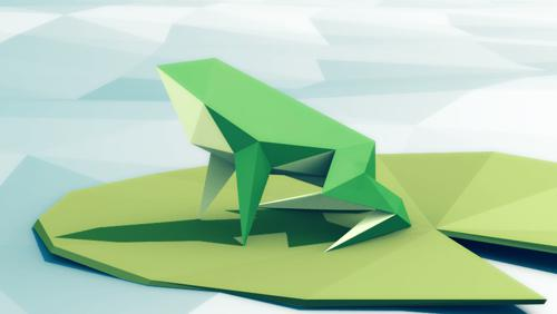 Low-poly frog preview image