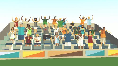 Low-poly people preview image