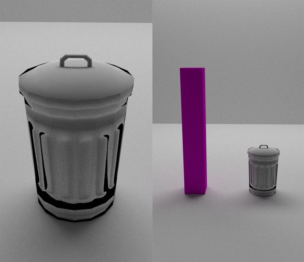 Low poly trash can (cycles) preview image 1