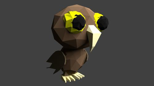 Owl Official Mascot LowPoly preview image