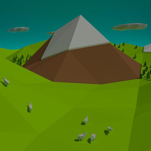 Low poly Mountain preview image