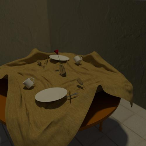 Table cloth pull preview image