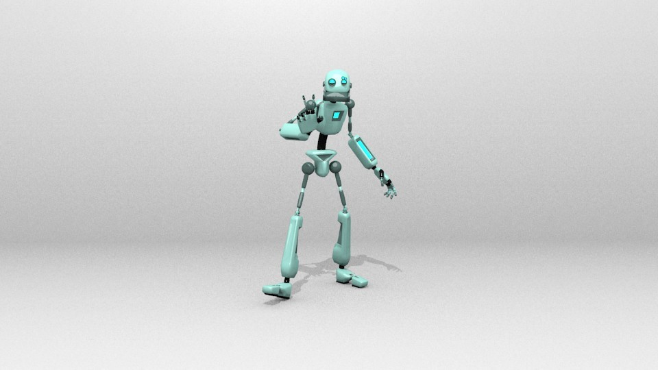 Robot simple 1 V.2 (rigged) preview image 1