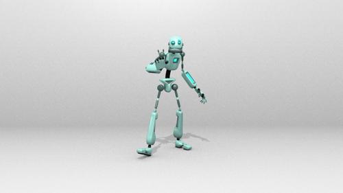 Robot simple 1 V.2 (rigged) preview image
