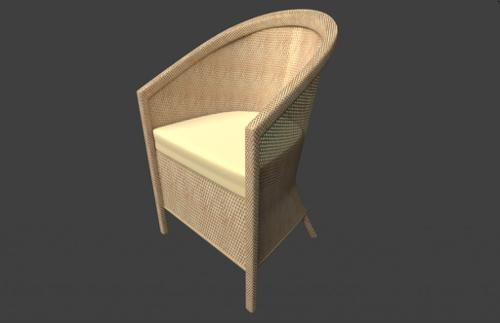 The Wicker Bamboo Armchair preview image