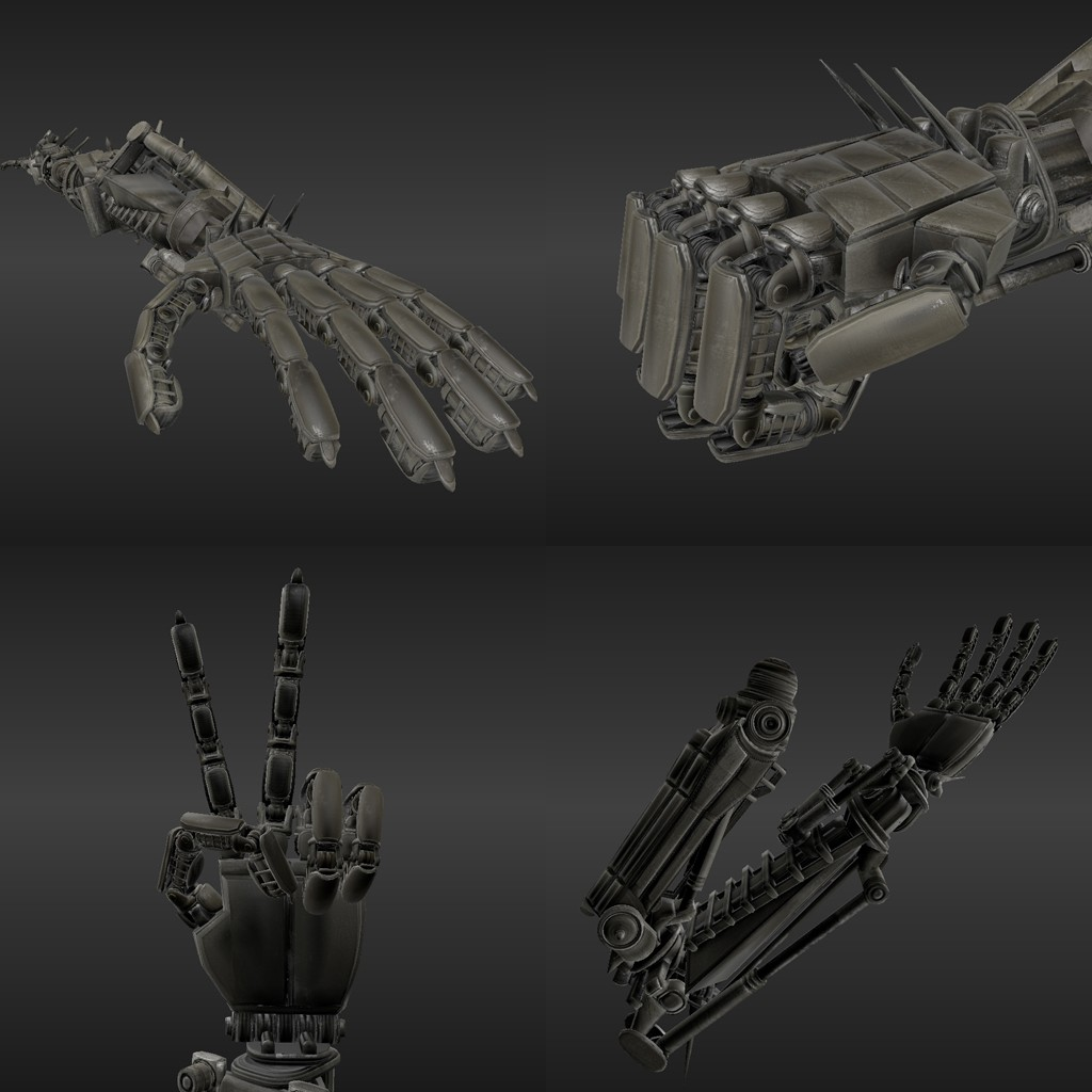 Rigged Robot Arms preview image 2