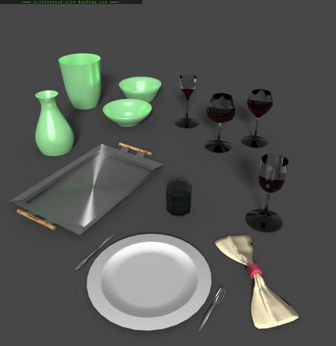 Tableware Set with Shapekey Controls preview image
