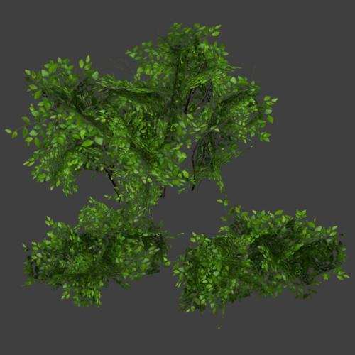 Low Poly Bushes preview image