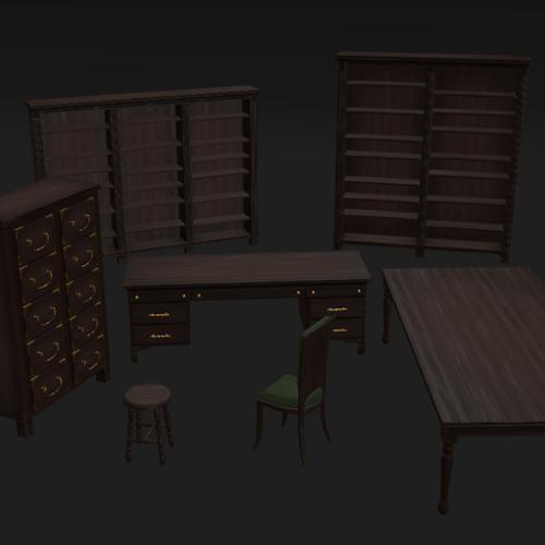 Furniture Pack (Low Poly) preview image