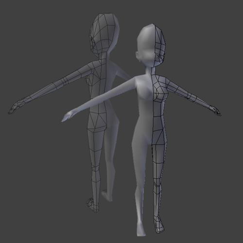 lowpoly Female base preview image