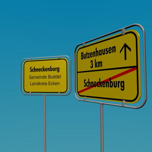German town sign (Ortsschild) preview image