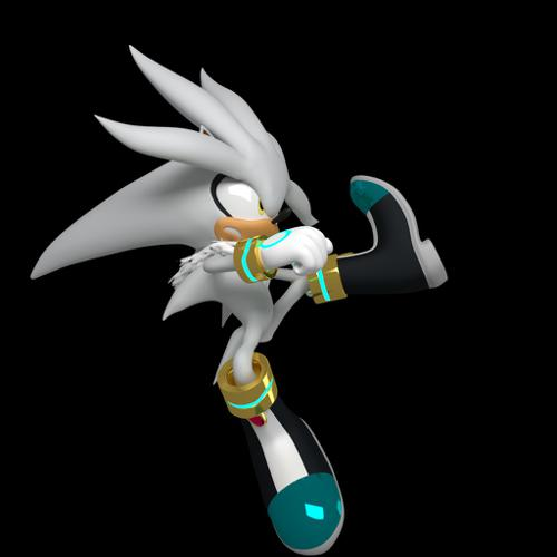 Silver the Hedgehog + Complete Rig CYCLES Version preview image