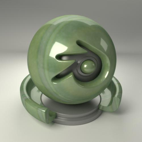 Cycles Greenstone Material preview image
