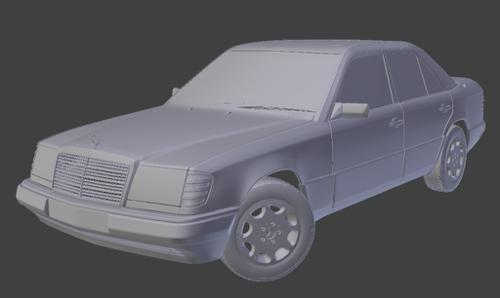 3D model Mercedes-Benz W124 preview image