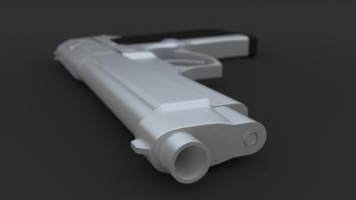 Beretta M9 Highpoly preview image