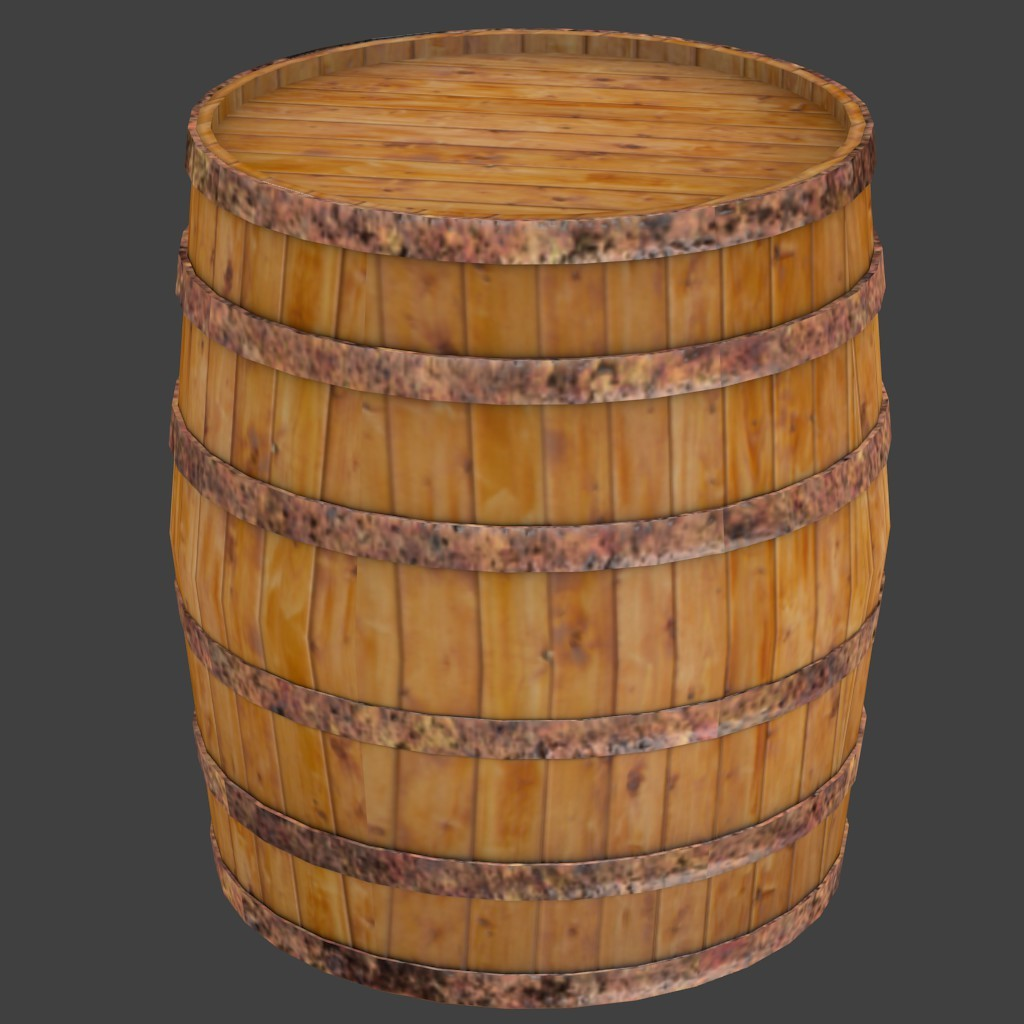 Low poly barrel preview image 1