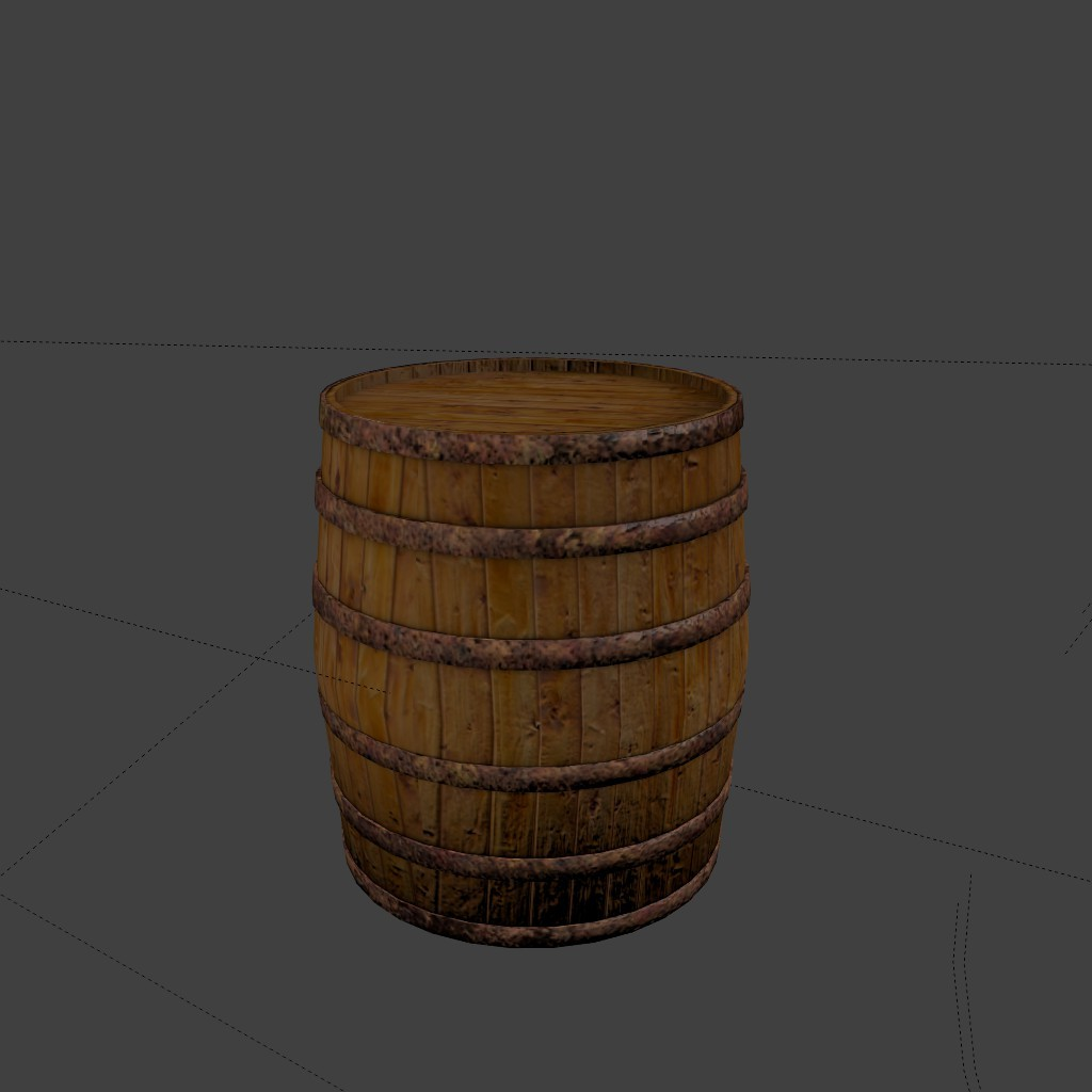 Low poly barrel preview image 2