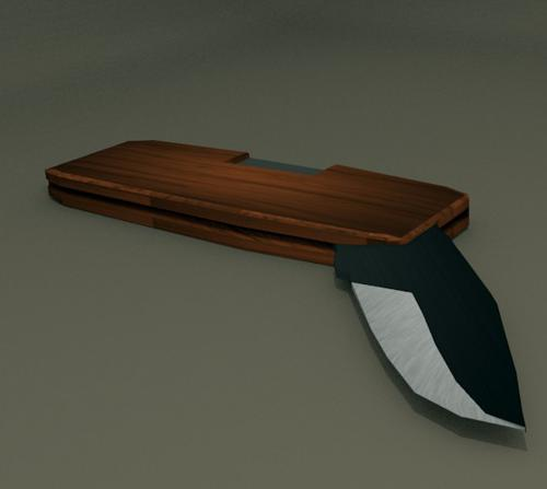 Simple unrigged Flip Knife with texture's preview image