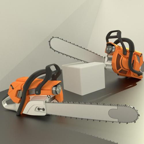 High poly Chainsaw preview image