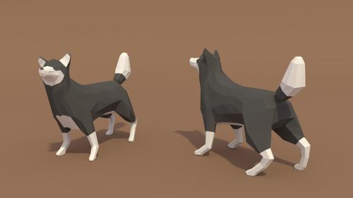 BLENDER Timelapse: Low poly wolf preview image