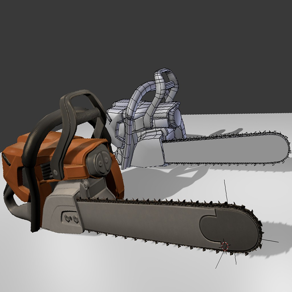 Low Poly  Chainsaw preview image 1