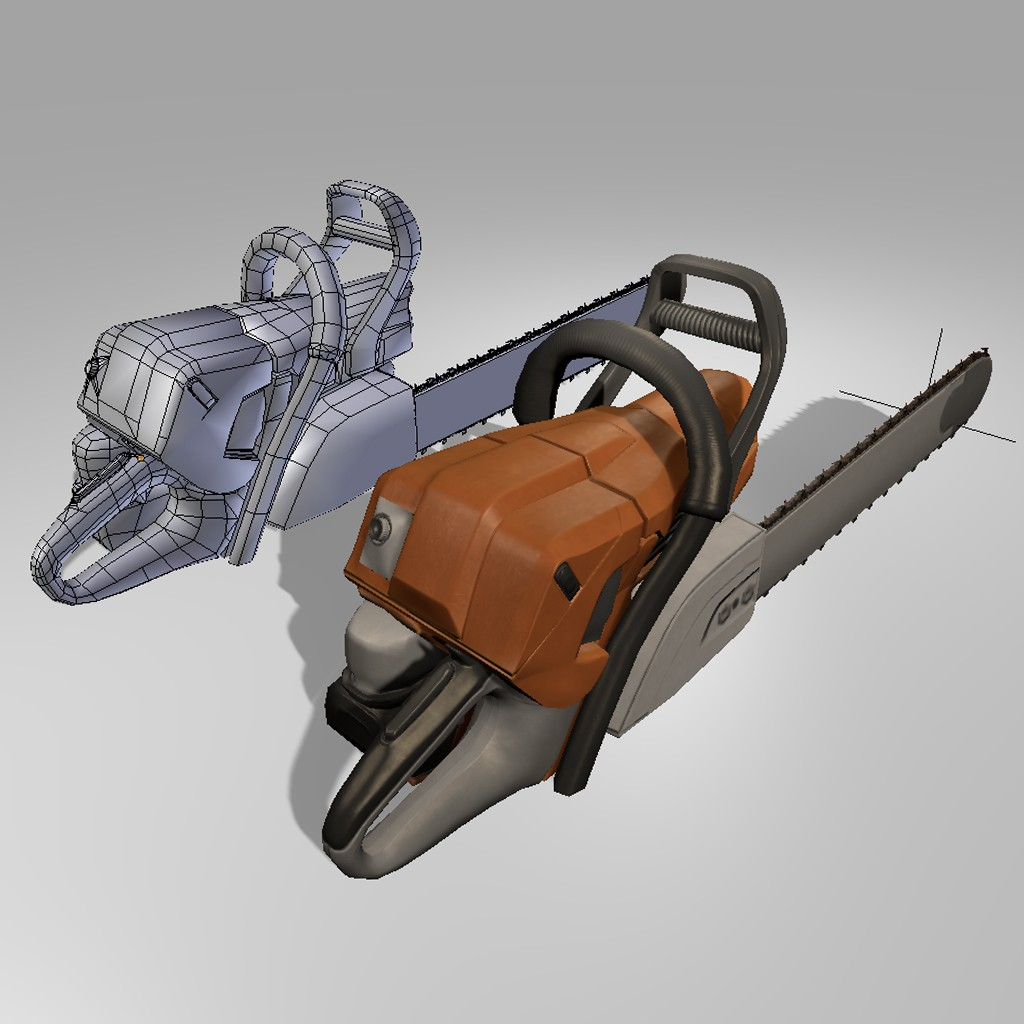 Low Poly  Chainsaw preview image 3
