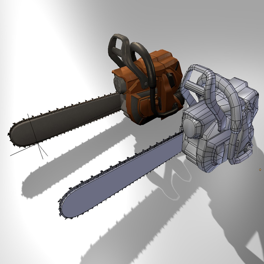 Low Poly  Chainsaw preview image 4