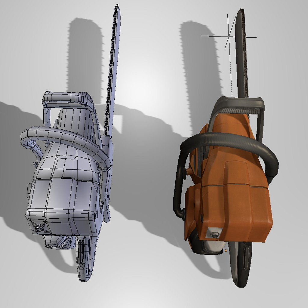 Low Poly  Chainsaw preview image 2