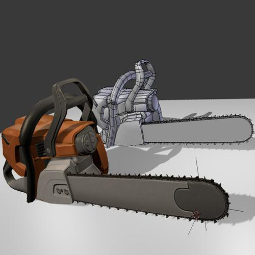 Low Poly  Chainsaw preview image