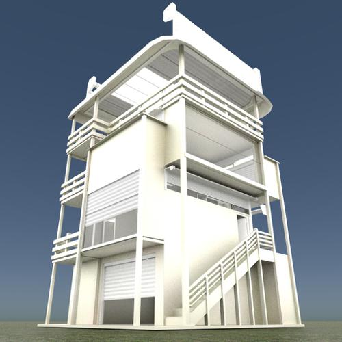 Tower-House Design Blender Game Engine preview image
