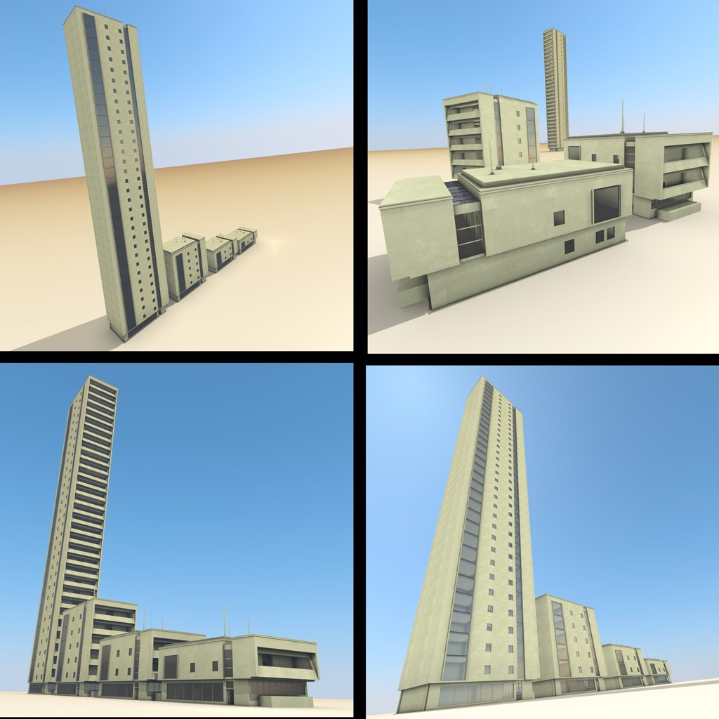 Residential Building Set preview image 1