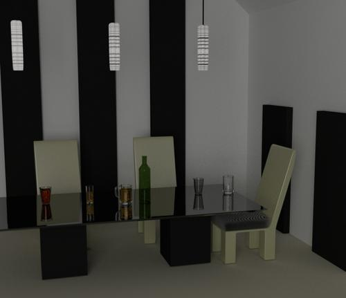 Minimalist dining room preview image