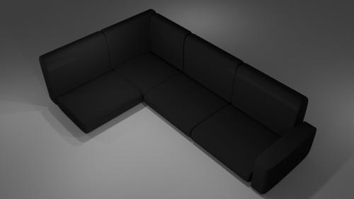 Black Couch (No Legs) preview image