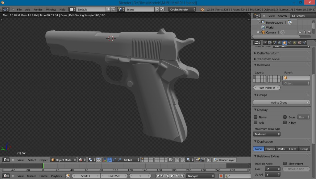 M1911 ~2K Polys preview image 1
