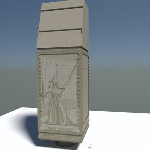 Jedi Temple Entrance - Pillar Detail. preview image