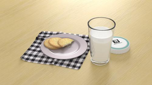 Milk and biscuits preview image