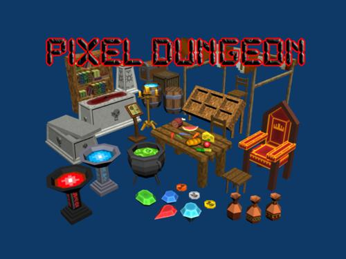 Pixel Dungeons Set1 - Props and stuff preview image
