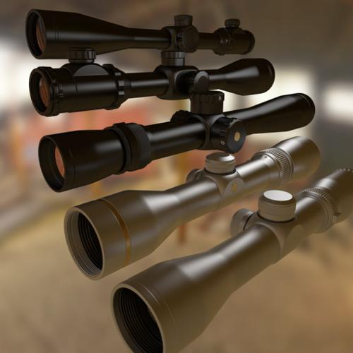 High Poly Rifle Scopes preview image