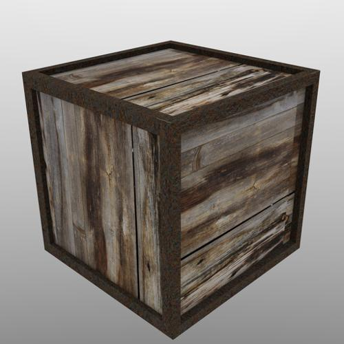Balmora crate - Low poly preview image