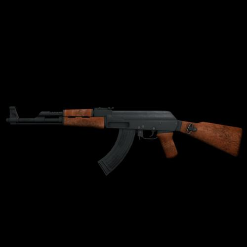 low poly ak-47 preview image