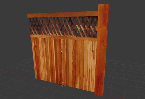 Wood Fence with Lattice preview image