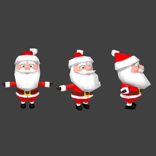 Low Poly Santa preview image