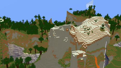 Minecraft map of moutains and cave systems(With textures included) preview image