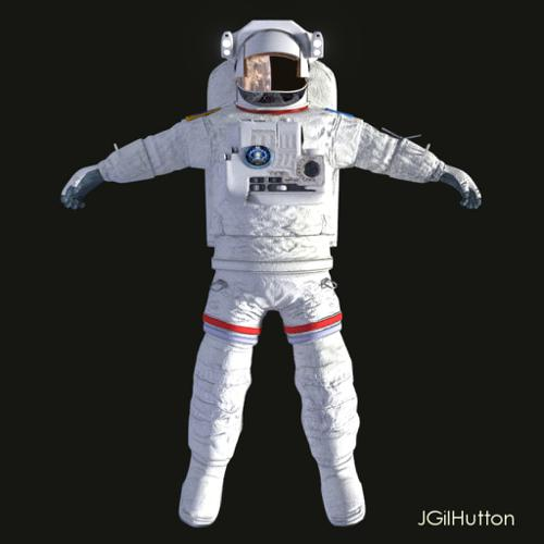 Astronaut - EMU suit - Rigged preview image