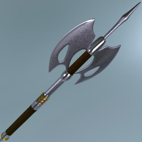 Fantasy Weapon Damascus Steel Axe preview image