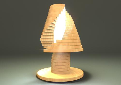 wood babel tour lamp preview image