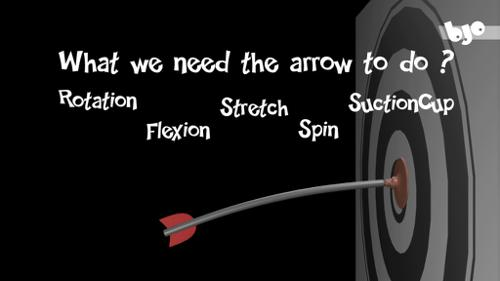Cartoon arrow with a suction cup rigged  preview image