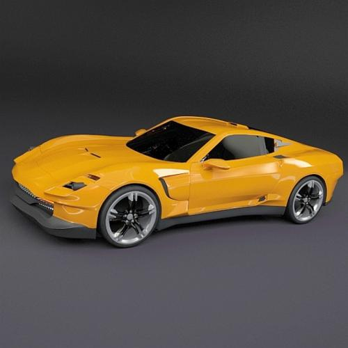 Yellow sports car concept preview image