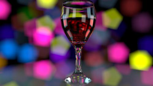 Wine glass Bokeh preview image