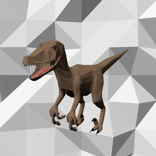 Low Poly Raptor preview image
